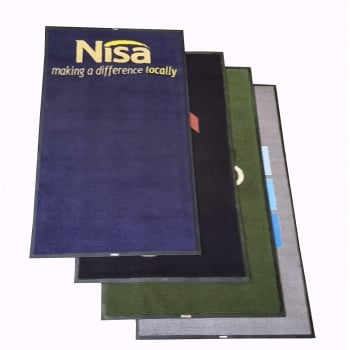A Grade 5x3 Non Slip Machine Washable Logo Dirt Trapper Mats with Free Delivery