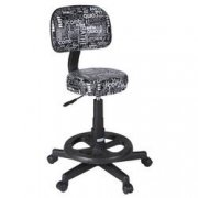 Black & White Graffiti Print Deluxe Grooming Stool