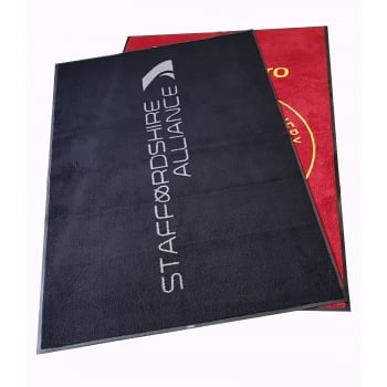 C Grade 8x5 OVERSIZED Non Slip Machine Washable Logo Dirt Trapper Mats with Free Delivery