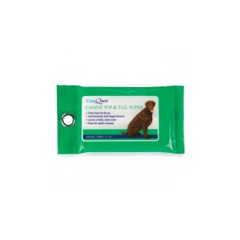 ClearQuest Canine Top & Tail Wipes - 25 Pack