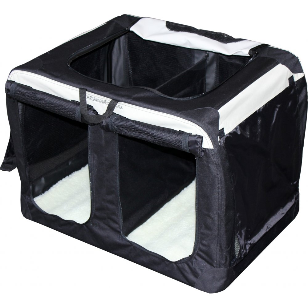 double compartment soft crates - Soft Dog Crates