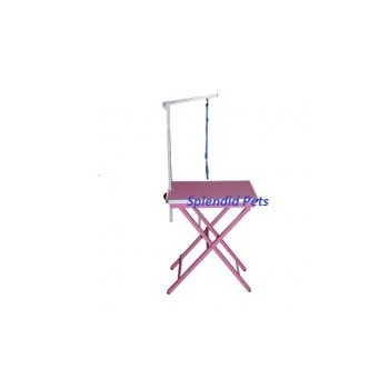 "Emperor Grooming Tables 24"" Foldable PINK Ringside Table with Grooming Arm"