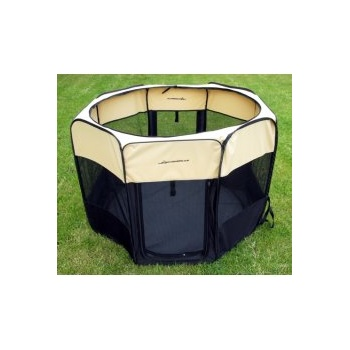 Emperor Large Pop Up Puppy Play Pen Cream & Black