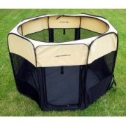 Large Pop Up Puppy Play Pen Cream & Black