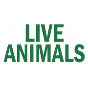 'Live Animals' Travel Sticker