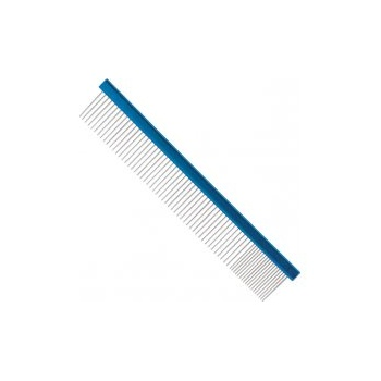 "Master Grooming Tools MGT 10"" Aluminium Finishing Comb - Electric Blue"