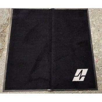 Non Slip Washable 4x4 Black Dirt Trapper Door Floor Mat for Home Conservatory