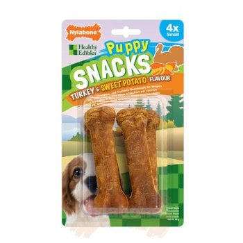 Nylabone Puppy Snacks - Turkey & Sweet Potato Flavour