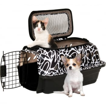 "Pet Mate 19"" PetMate Carry Kennel with Strap for Small Dogs & Cats - Up to 10lbs"