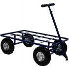 "Emperor Dog Show Trolley + 10"" Quick-Lock Air Wheels - BLUE"