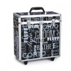 Black Graffiti Large Grooming Tool Case on wheels