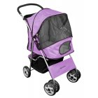Deluxe 4 Wheel Pet Stroller Powder Purple