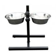 ProSelect Luxury Adjustable Double Dog Diners