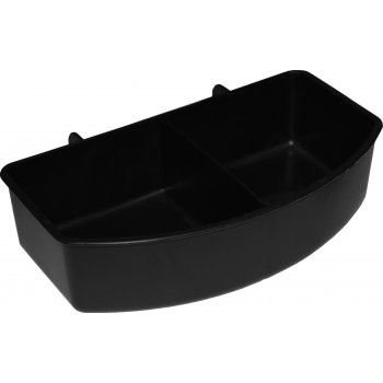 Vari Kennel Bowl Double Compartment - Black