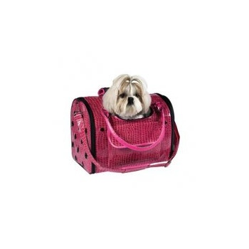 Zach and Zoey Zack & Zoey Croco Pet Carrier in Pink