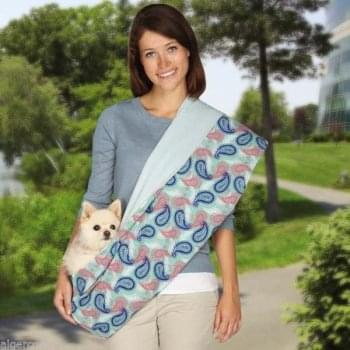 Zach and Zoey Zack & Zoey Reversible Small Pet Sling Carrier