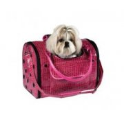 Zack & Zoey Croco Pet Carrier in Pink